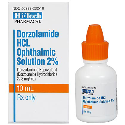 Dorzolamide HCL Ophthalmic Solution (Click for Larger Image)