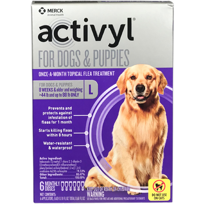 Activyl 12pk Dogs 45-88 lbs by MERIAL