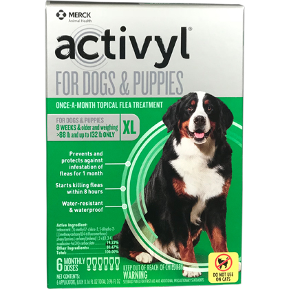 Activyl 12pk Dogs 89-132 lbs by MERIAL