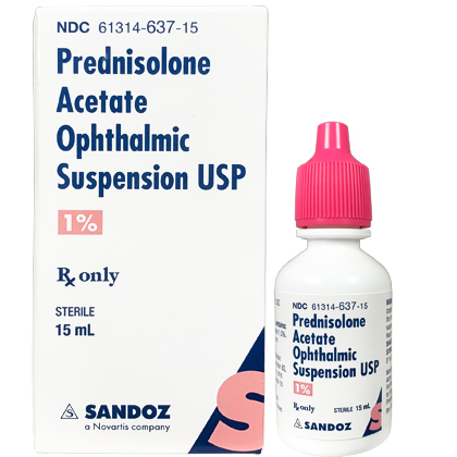 Prednisolone Acetate Ophthalmic Suspension 1% (Click for Larger Image)