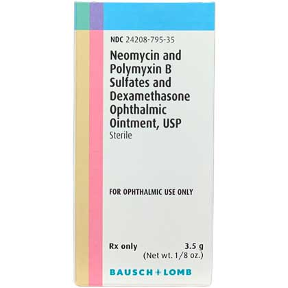 Neo Poly Dex Ophthalmic Oint 3.5gm Tube