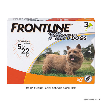 Frontline Plus 3pk For Small Dogs 5 to 22lbs