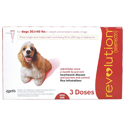 Revolution 3pk Dog 20.1-40 lbs by Zoetis
