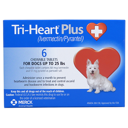 Tri-Heart Plus - Generic to Heartgard Plus 12pk Blue 1-25 lbs