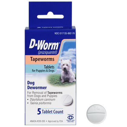 D-Worm Dog Tape Worm Tabs (Click for Larger Image)