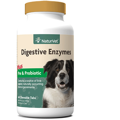 NaturVet Digestive Enzymes Plus Probiotic Tablets (Click for Larger Image)