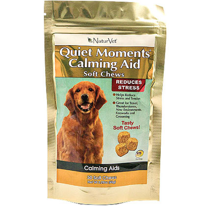 NaturVet Quiet Moments Calming Aid Soft Chews for Stress