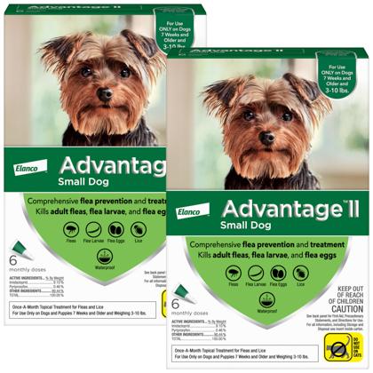 Advantage II 12pk Dog 3-10 lbs by BAYER