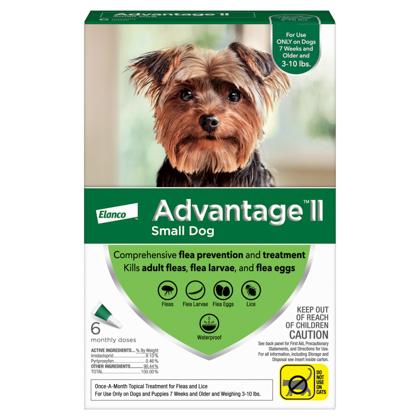 Advantage II 6pk Dog 3-10 lbs