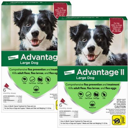 Advantage II 12pk Dog 21-55 lbs by BAYER
