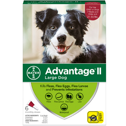 Advantage II 6pk Dog 21-55 lbs by BAYER