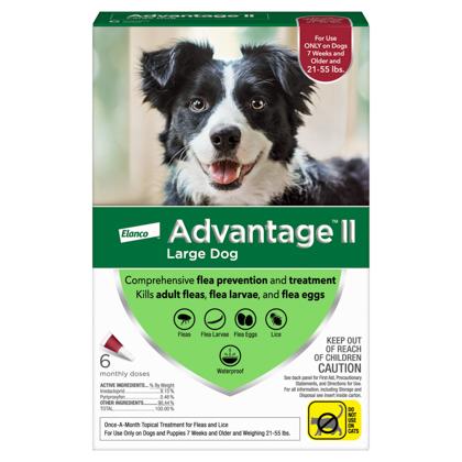 Advantage II 6pk Dog 21-55 lbs