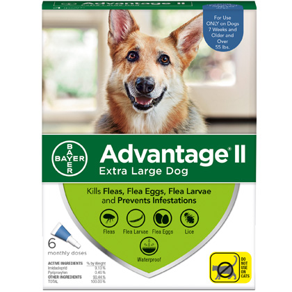Advantage II 6pk Dog Over 55 lbs by BAYER