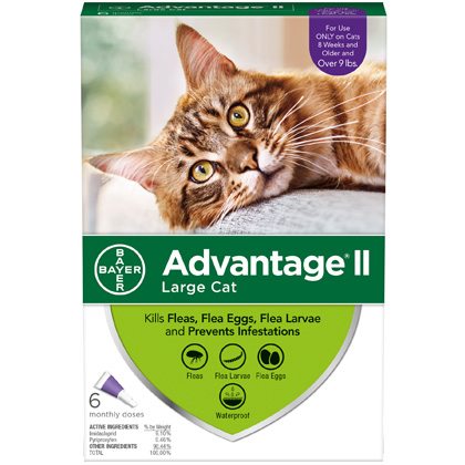 Advantage II 6pk Cat Over 9 lbs by BAYER