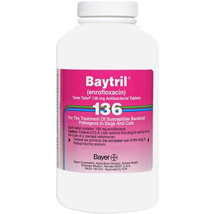 Image of Allergy Relief Medication, Baytril Taste Tabs 136 mg (sold per tablet) by BAYER