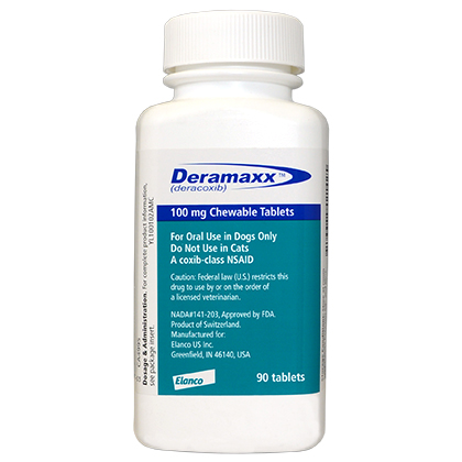 Deramaxx 100mg Chewable Tablets 90ct btl