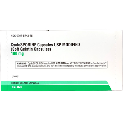 Cyclosporine (Modified) Generic To Atopica (Click for Larger Image)