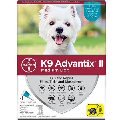 K9 Advantix II 4pk Teal Dog 11-20 lbs