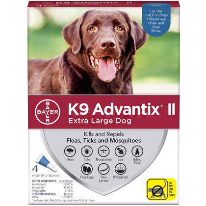 K9 Advantix II 4pk Blue Dog Over 55 lbs