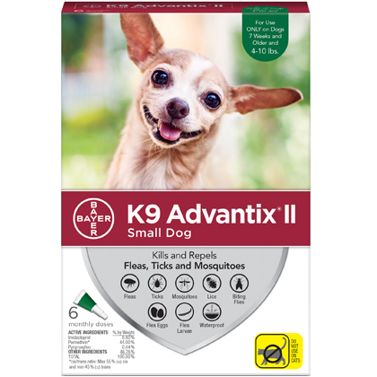 K9 Advantix II 6pk Green Dog 4-10 lbs