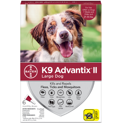 K9 Advantix II 6pk Red Dog 21-55 lbs