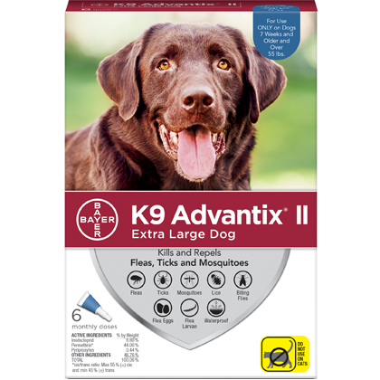 K9 Advantix II 6pk Blue Dog Over 55 lbs by BAYER