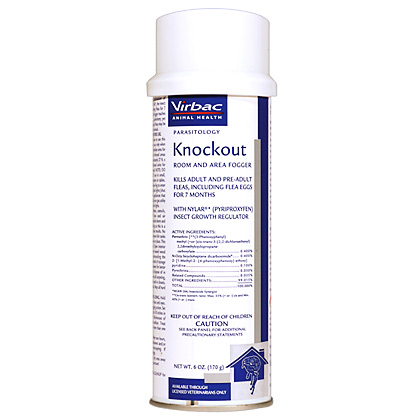Virbac Knockout Fogger Kills Fleas In Your Home