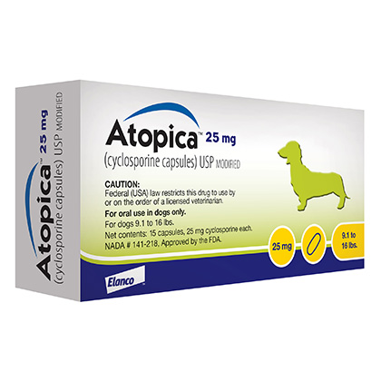 Atopica 25mg 15 Capsule Pack