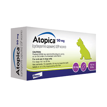 Atopica Cyclosporine For Dogs Pet Itch Relief