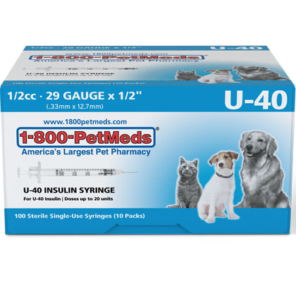 U-40 Syringes for ProZinc & Vetsulin Insulin (Click for Larger Image)