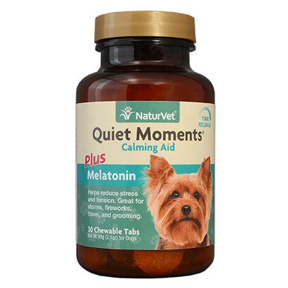 NaturVet Quiet Moments Calming Aid Plus Melatonin (Click for Larger Image)