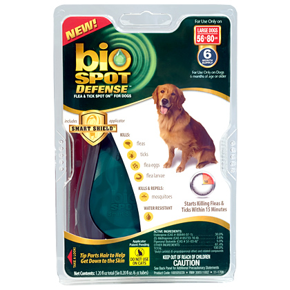 Bio Spot Defense Flea & Tick Control For Dogs (Click for Larger Image)