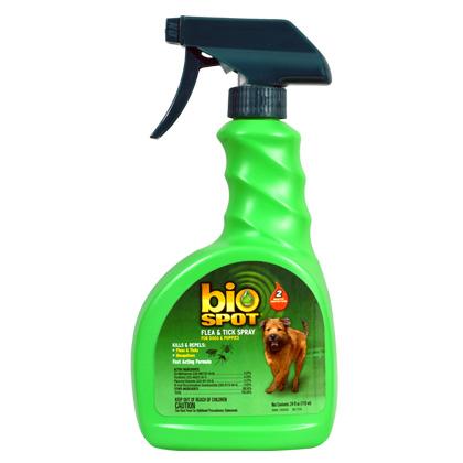 bio spot flea and tick spray flea relief for pets dogs cats 1800petmeds. Black Bedroom Furniture Sets. Home Design Ideas