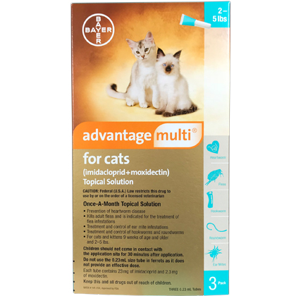 Advantage Multi 3pk Cats 2-5 lbs by BAYER