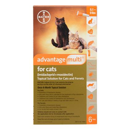 Advantage Multi 6pk Cats 5-9 lbs by BAYER