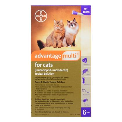 Advantage Multi 6pk Cats 9-18 lbs by BAYER