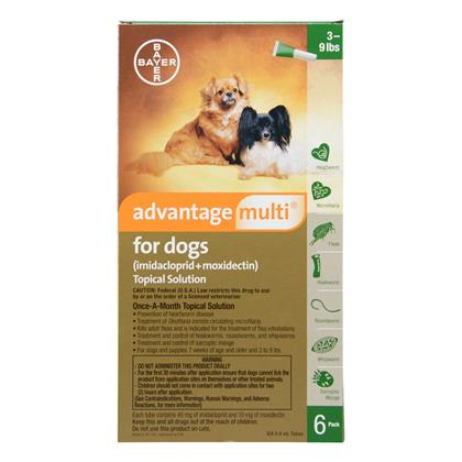 Advantage Multi 12pk Dogs 3-9 lbs by BAYER