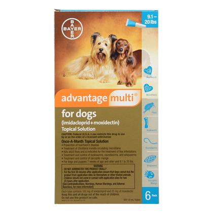 Advantage Multi 6pk Dogs 9-20 lbs by BAYER