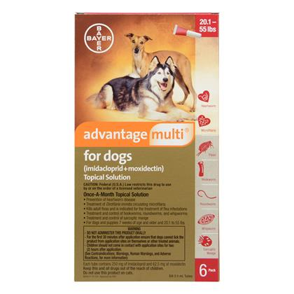 Advantage Multi 6pk Dogs 20-55 lbs by BAYER
