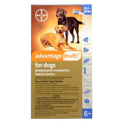 Advantage Multi 12pk Dogs 55-88 lbs by BAYER