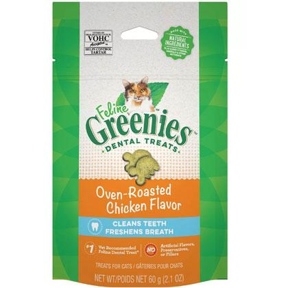 Image of Feline Greenies Dental Treats Oven Roasted Chicken 2.5 oz by S & M NUTEC