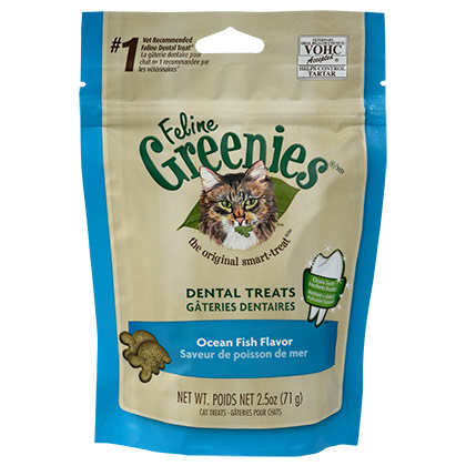 Feline Greenies Dental Treats Ocean Fish 2.5 oz