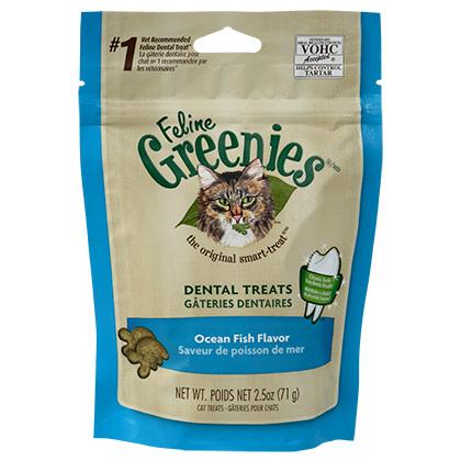 Image of Feline Greenies Dental Treats Ocean Fish 2.5 oz by S & M NUTEC