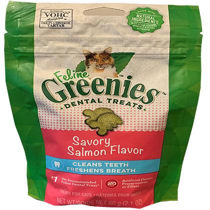 Image of Feline Greenies Dental Treats Savory Salmon 2.5 oz by S & M NUTEC