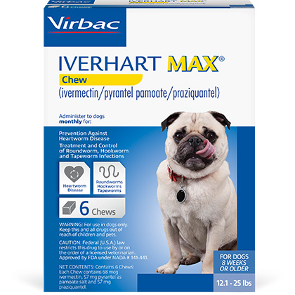 Iverhart Max Chewable Tablets For Dogs 12.1-25lbs 6pk