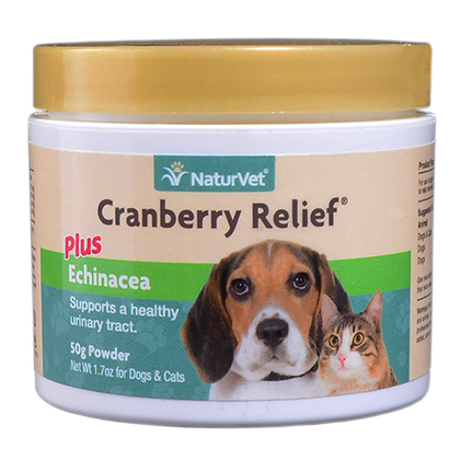 NaturVet Cranberry Relief Plus Echinacea 50gm Powder