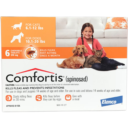 Comfortis 10.1-20lb 270mg Dog & Cat Flea Preventative 6pk