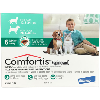Comfortis 6pk Dogs 20.1-40 lbs or Cats 12.1-24 lbs