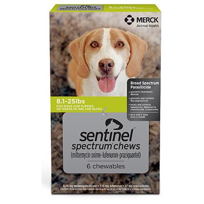 Sentinel Spectrum 12pk 8.1-25 lbs  by NOVARTIS