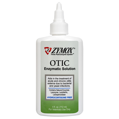 Zymox Otic Enzymatic Solution Hydrocortisone Free (Click for Larger Image)